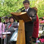 Projev pana starosty Zdenka Gottwalda
