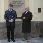 Pan starosta Zdeněk Gottwald s panem místostarostou Františkem Poláškem