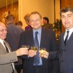 Přípitek s místopředsedou Parlamentu panem Janem Kasalem