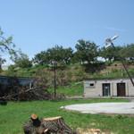 Ořešák a poškozený stožár