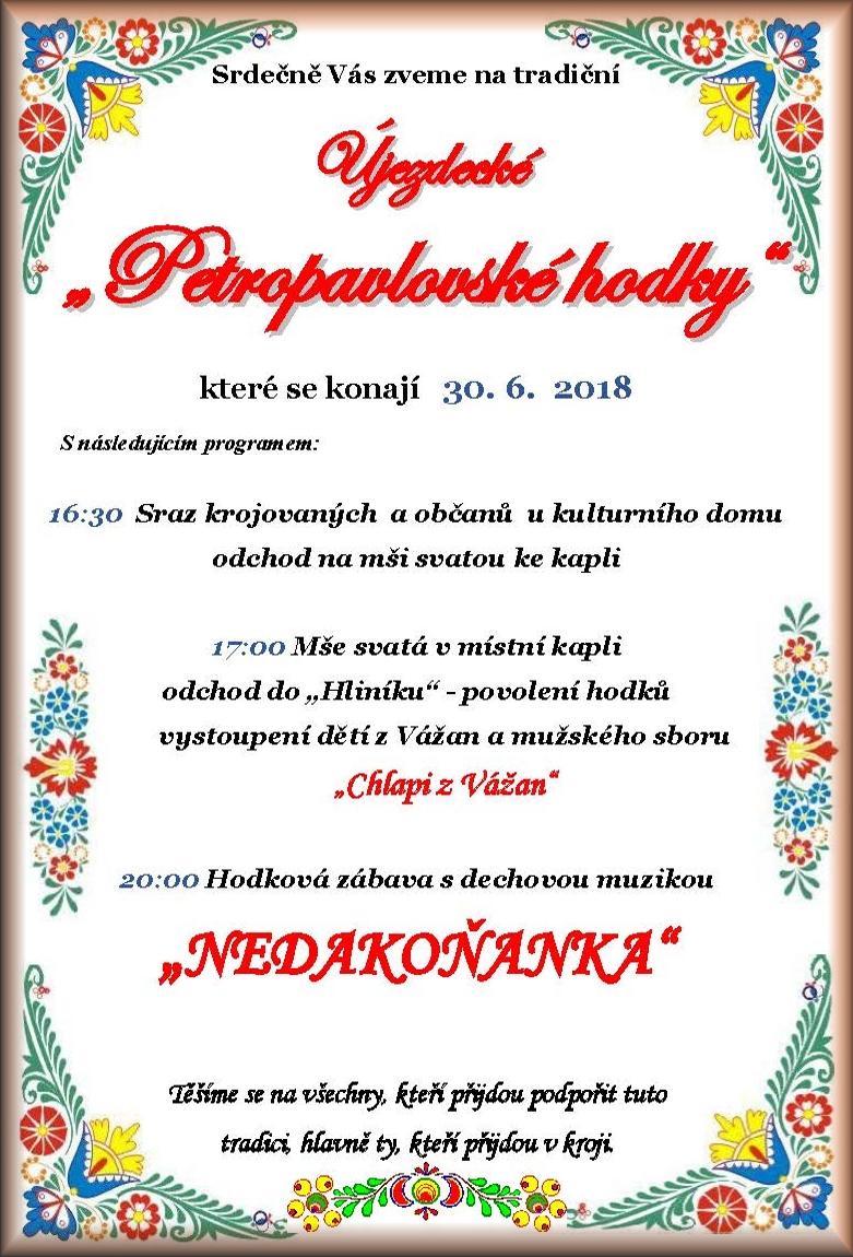 Petropavlovské hodky 30. 6. 2018